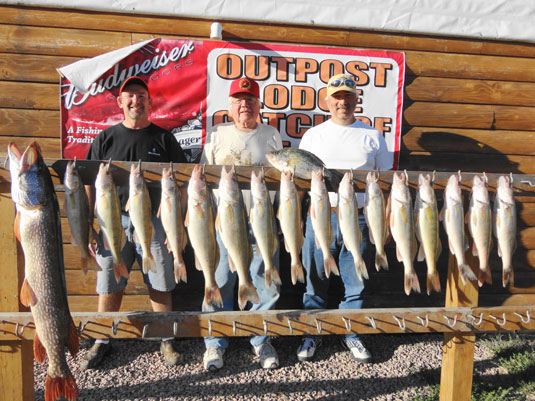 Fishing report Lakes Oahe/Sharpe Pierre area for September 20th thru Sept 30th 2014