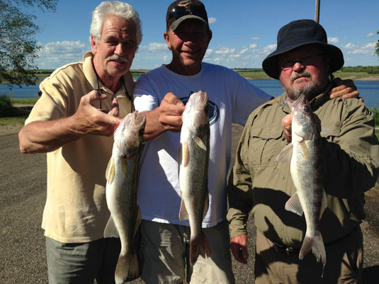 Lakes Oahe/Sharpe Pierre area fishing report for June 4th 5th and 6th 2014